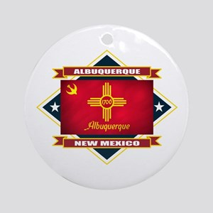 Albuquerque Flag Ornament (Round)