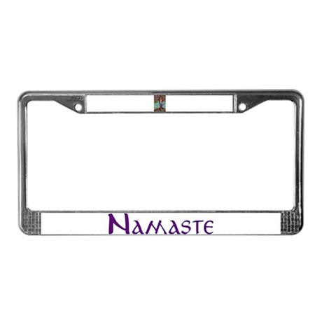 Yoga Balance-Tree POSE License Plate Frame