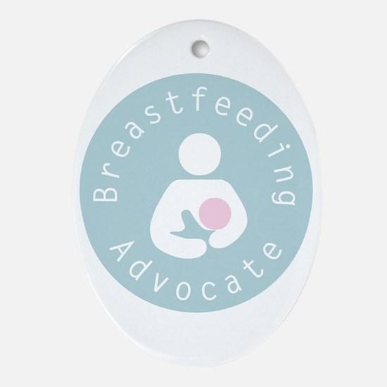 Breastfeeding Advocate Ornament (Oval)
