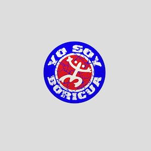 Yo Soy Boricua - Blu-Rd Mini Button