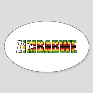 Zimbabwe Sticker (Oval)