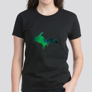 Aurora Borealis U.P. 2 Women's Dark T-Shirt