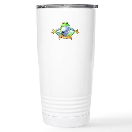 Meditating Frog Stainless Steel Travel Mug