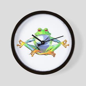Meditating Frog Wall Clock