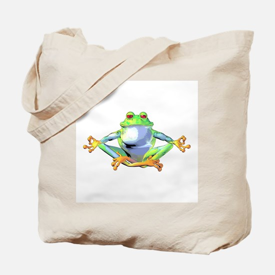 Meditating Frog Tote Bag