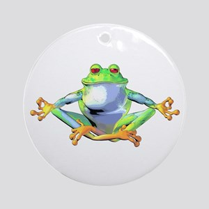Meditating Frog Ornament (Round)