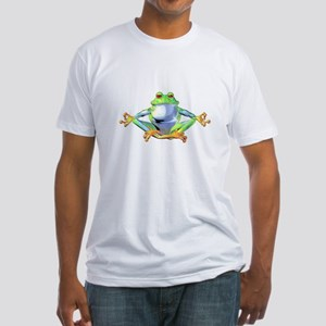 Meditating Frog Fitted T-Shirt