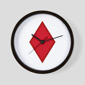 Red Diamonds Wall Clock