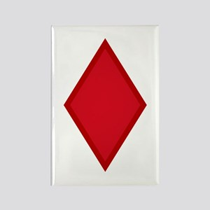 Red Diamonds Rectangle Magnet
