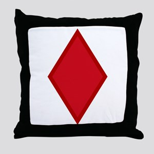 Red Diamonds Throw Pillow