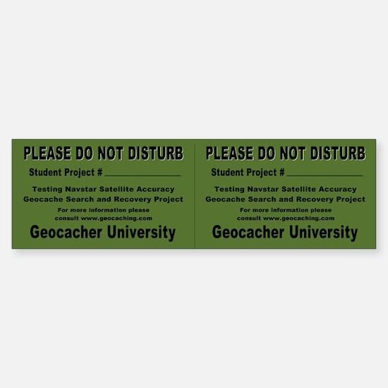 """Student Project"" Geocache Sticker (Double)"