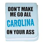 Carolina Football baby blanket