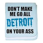 Detroit Football baby blanket