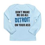 Detroit Football Long Sleeve Infant T-Shirt