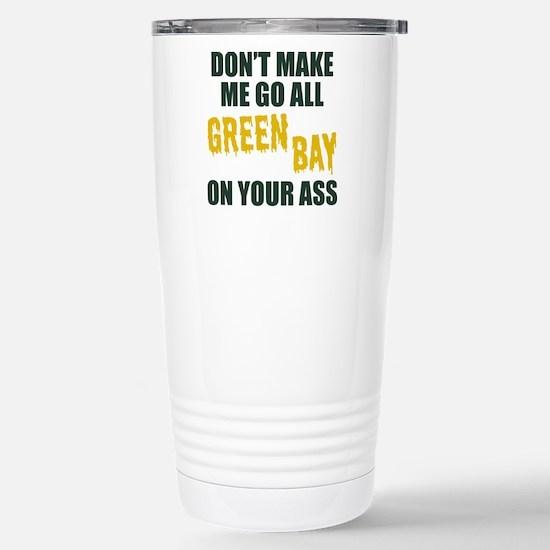 Green Bay Football Stainless Steel Travel Mug