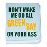 Green Bay Football baby blanket