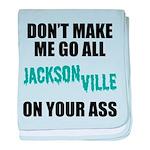 Jacksonville Football baby blanket