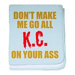 Kansas City Football baby blanket