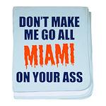 Miami Football baby blanket