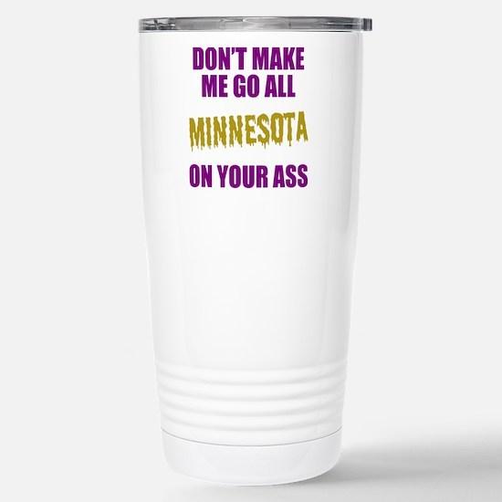 Minnesota Football Stainless Steel Travel Mug
