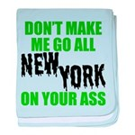 New York Football baby blanket
