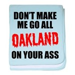 Oakland Football baby blanket