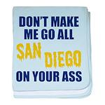 San Diego Football baby blanket