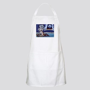 CHINESE CRESTED DOG smiling m BBQ Apron