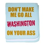 Washington Football baby blanket