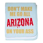 Arizona Baseball baby blanket