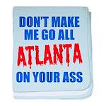 Atlanta Baseball baby blanket