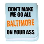 Baltimore Baseball baby blanket