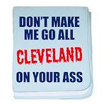 Cleveland Baseball baby blanket