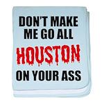 Houston Baseball baby blanket