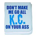 Kansas City Baseball baby blanket