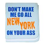 New York Baseball baby blanket