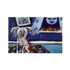 CHINESE CRESTED DOG smiling m Rectangle Magnet