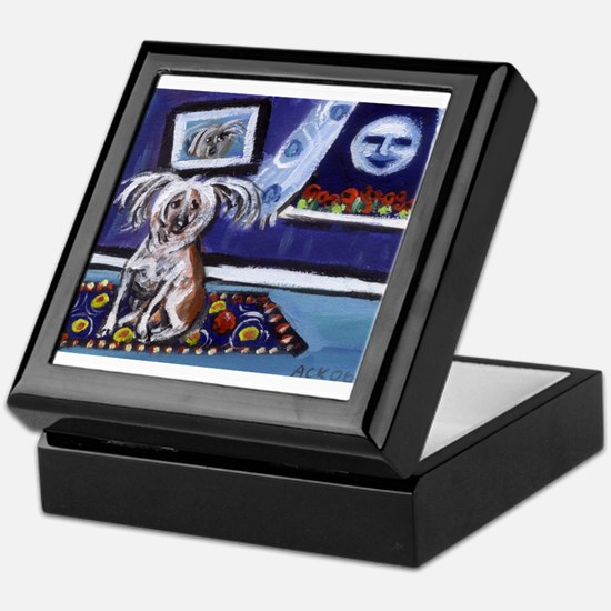 CHINESE CRESTED DOG smiling m Keepsake Box