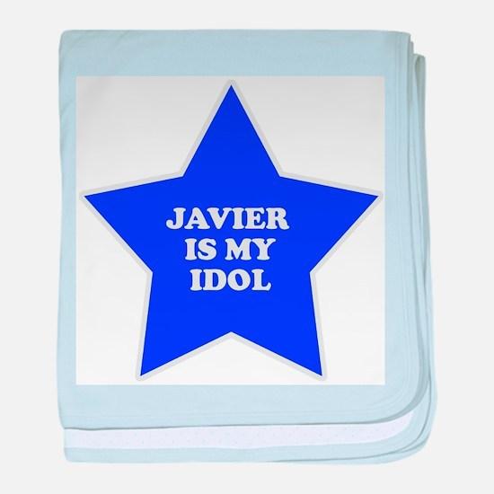 Javier Is My Idol baby blanket