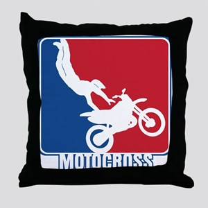 Major League Motocross Throw Pillow