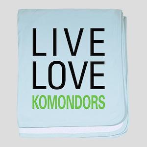 Live Love Komondors baby blanket