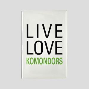 Live Love Komondors Rectangle Magnet