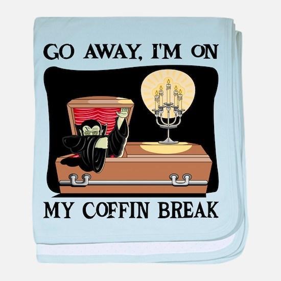 Coffin Break baby blanket