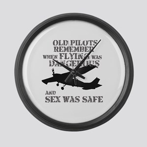 Old Pilots Style A Large Wall Clock