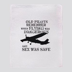 Old Pilots Style A Throw Blanket
