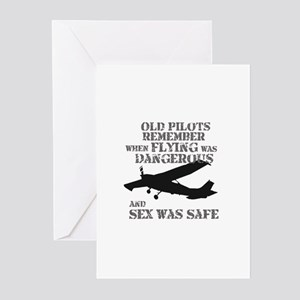 Old Pilots Style A Greeting Cards (Pk of 10)