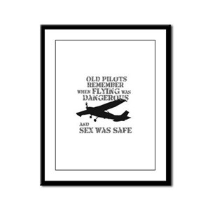 Old Pilots Style A Framed Panel Print