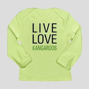 Live Love Kangaroos Long Sleeve Infant T-Shirt