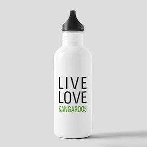 Live Love Kangaroos Stainless Water Bottle 1.0L