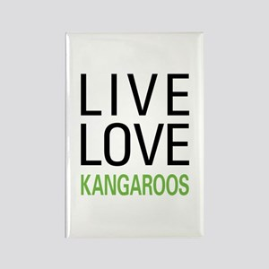 Live Love Kangaroos Rectangle Magnet